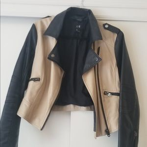 Two Toned Leather Jacket